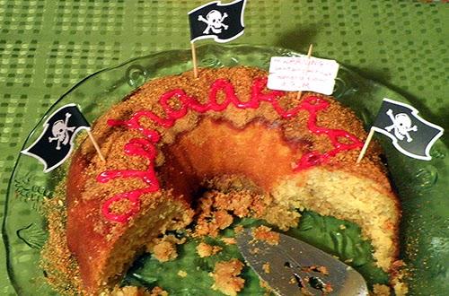 Cake on Platter almost Half Gone