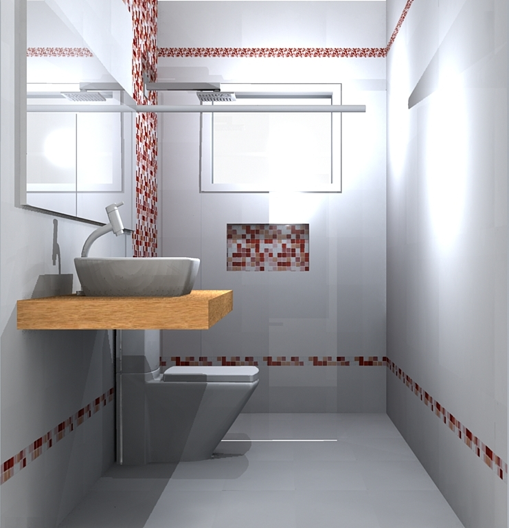 Nichos de pastilha no banheiro  Decorações e Artes -> Nicho Do Banheiro Com Pastilha