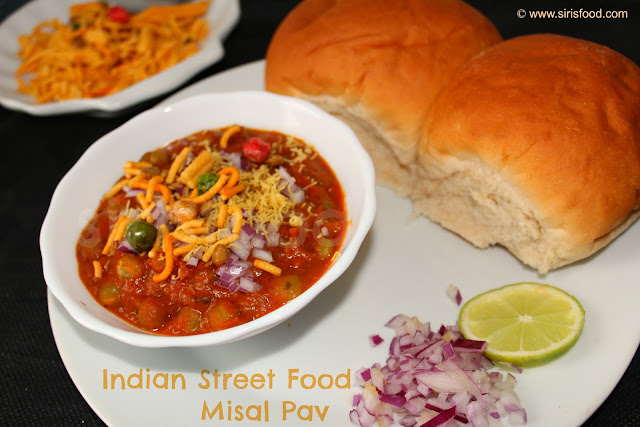 misal pav spice white peas gravy indian street food