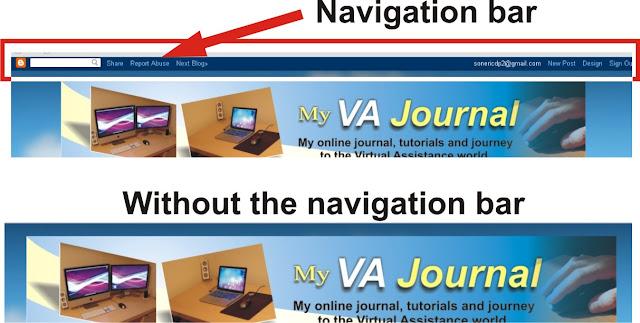 hide the navigation bar on blogger