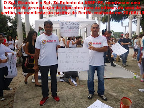 sgt. ricardo e sgt. zé roberto na manifestação pacíficado do recife em 20/062013 foto 01