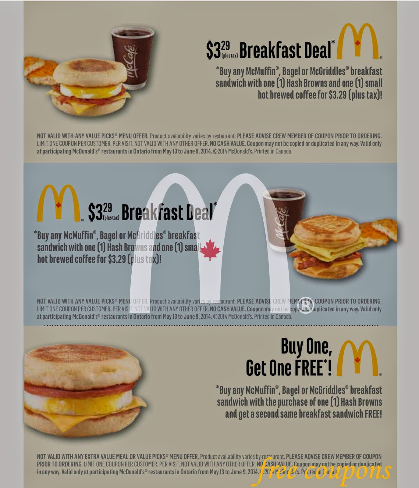 Free mcdonald coupons 2019