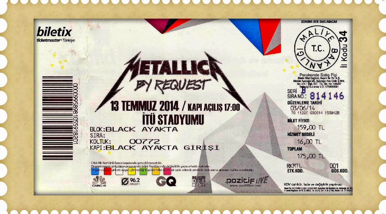 Istanbul : Metallica by Request (13-7-2014)