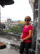 At the top of the oldest cathedral in Central America
