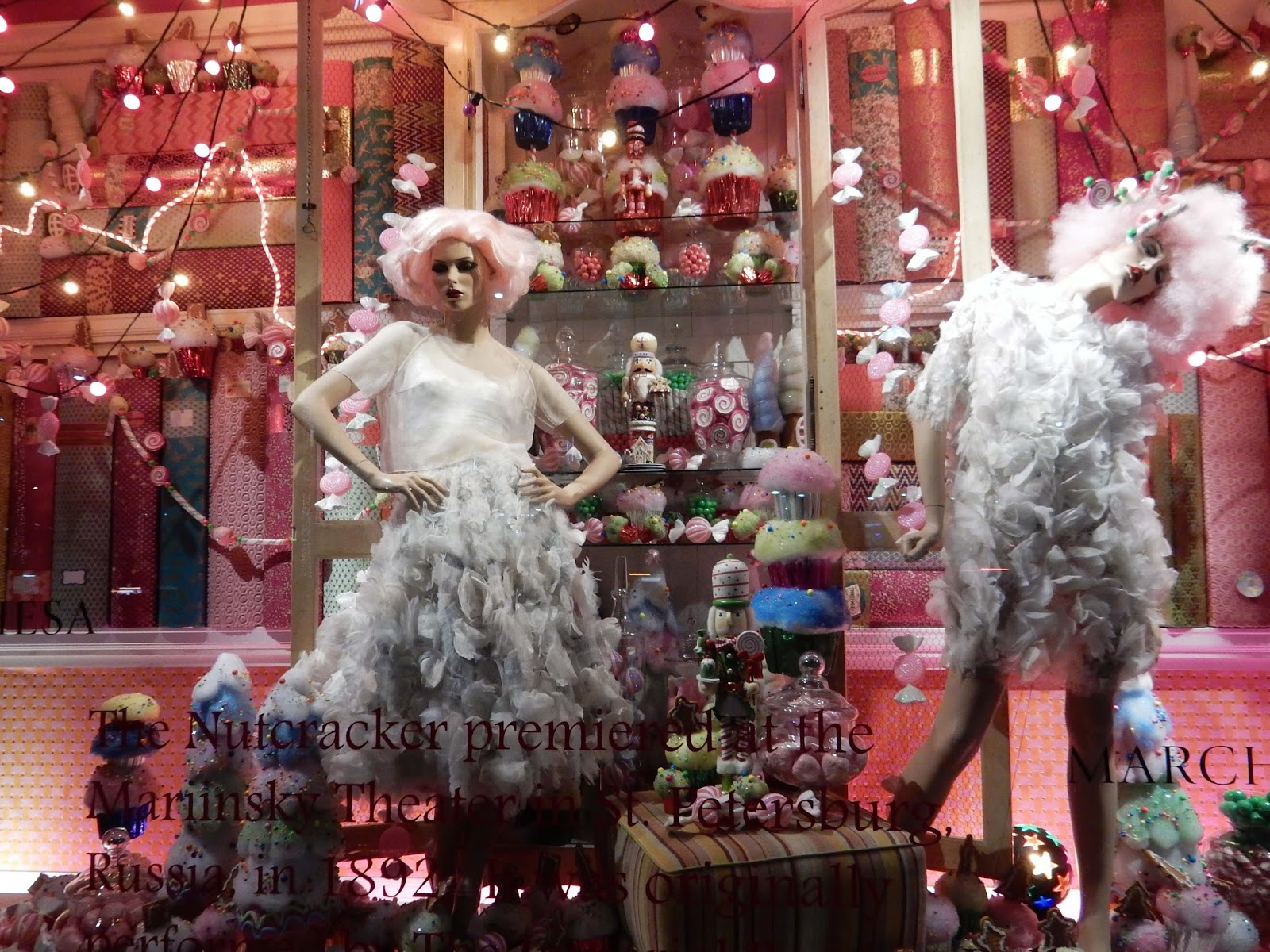 Nutcracker Ballet Marchesa dresses Neiman Marcus Holiday window Beverly Hill