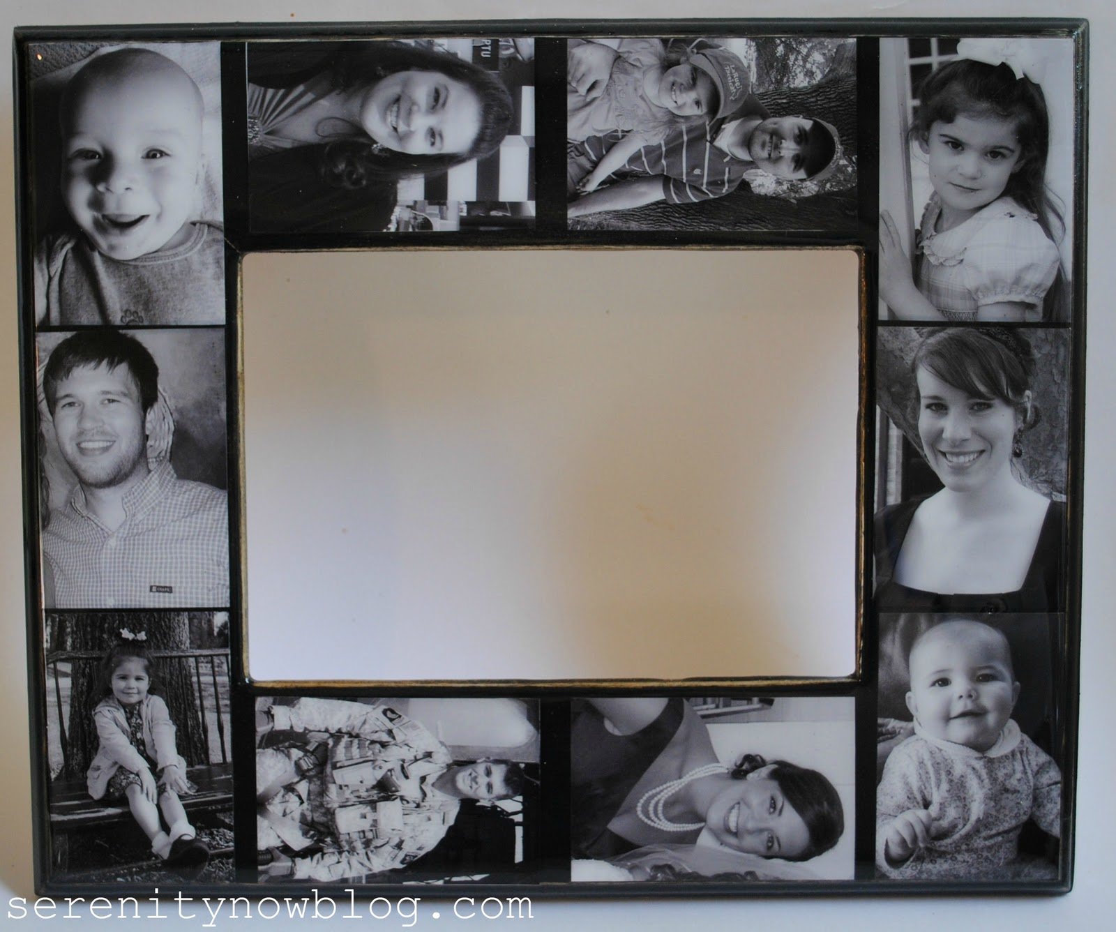 serenity now keepsake family photo collage frame tutorial. Black Bedroom Furniture Sets. Home Design Ideas