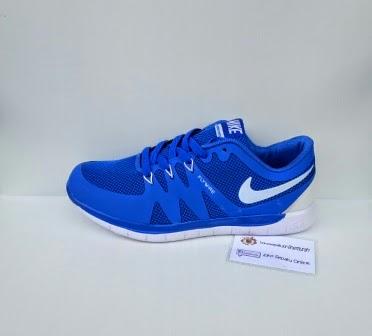 Nike Flywire warna Biru, merah, sepatu Running warna hitam,