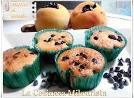 Muffins de melocotón