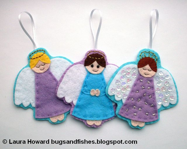 Bugs and Fishes by Lupin: How To: Felt Angel Ornament #