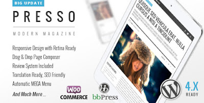Download PRESSO v2.0.1 Modern Magazine Wordpress Theme