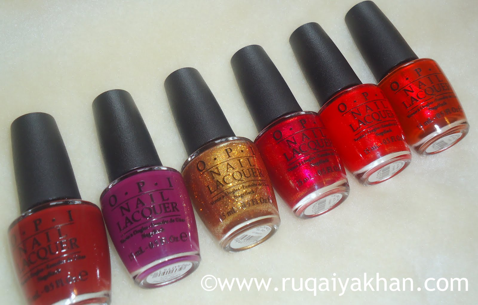 Ruqaiya Khan: OPI Skyfall Collection for Holiday 2012 - Swatches