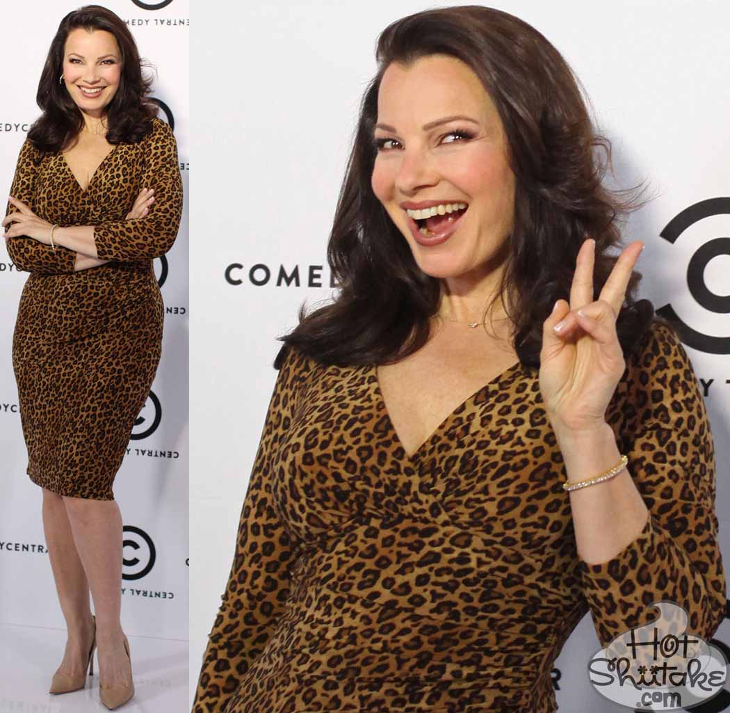 Fran Drescher Leopard Dress