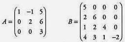 Matriks Segitiga Atas dan Matriks Segitiga Bawah