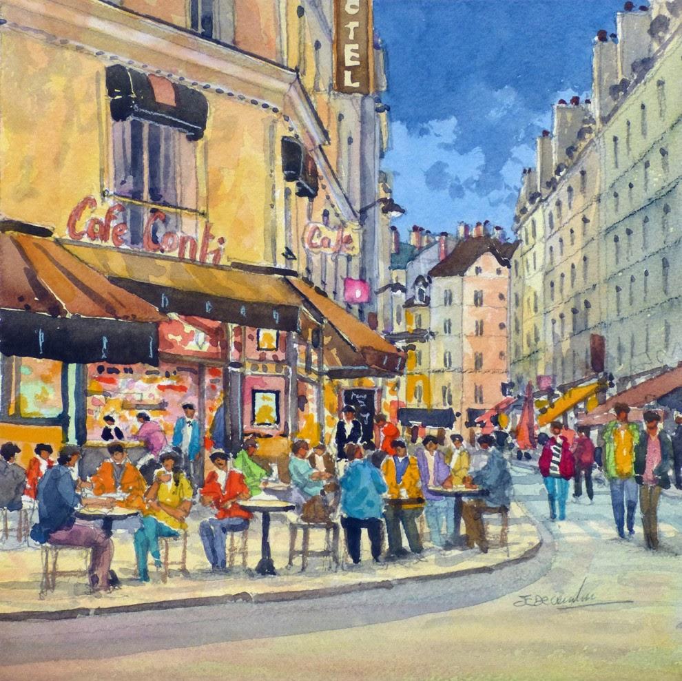 Jean Charles Decoudun Le cafe conti a Paris
