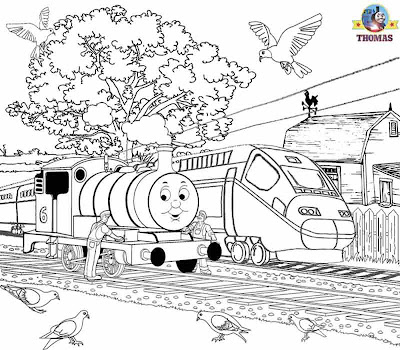 Worksheets Free Printable activities Kids coloring pages European train Thomas and Percy tank engine