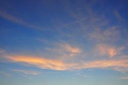 Leuchtende Wolken...