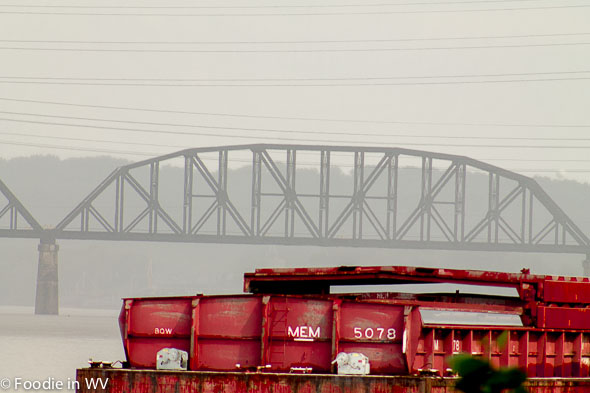 Rainy Day Railroad Bridge Huntington, WV