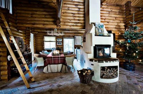Una pizca de hogar: cabaña rústica y nórdica...