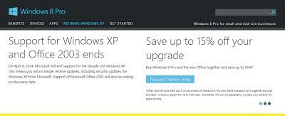 dukungan XP dan Office 2003 berakhir