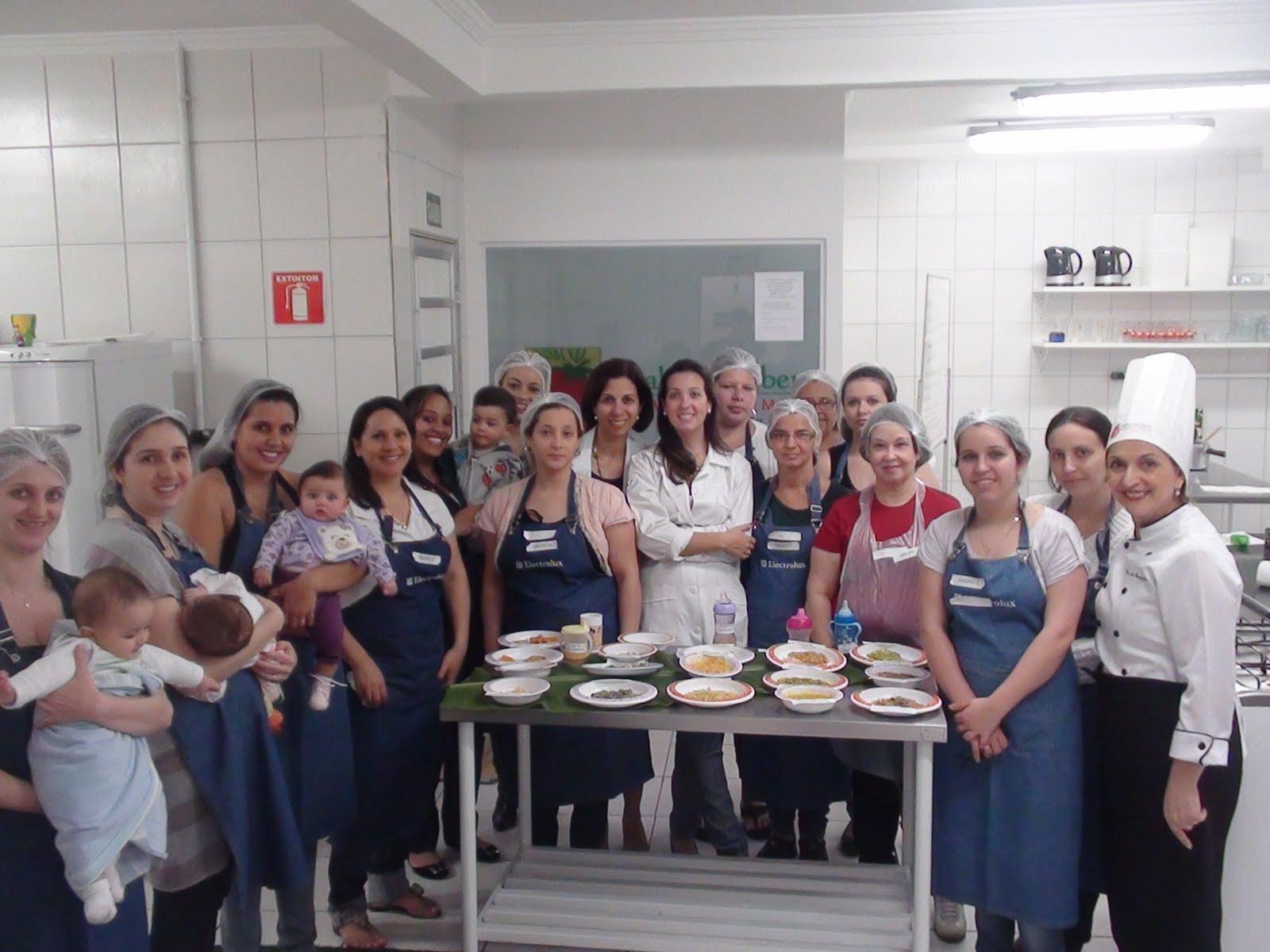 #38415C Cozinha experimental para mamães e bebês Sabor e Saber Gastronomia 1600x1200 px Projeto Cozinha Experimental Na Escola #2535 imagens