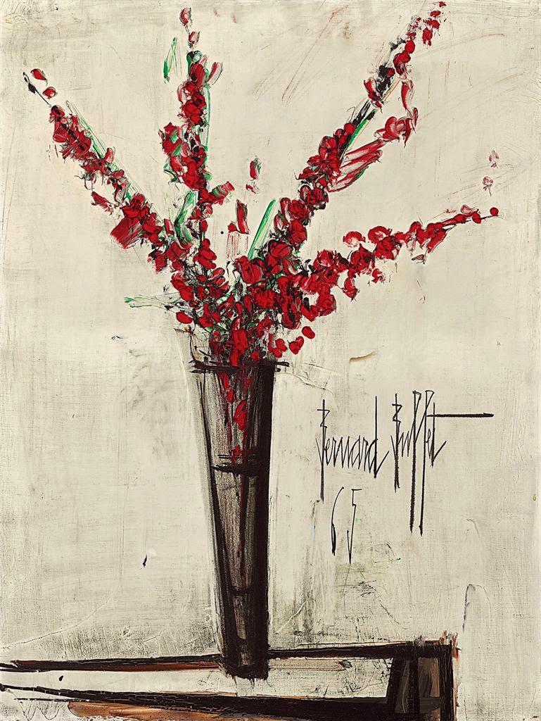 Expressionism bernard buffet 39 s flowers art for your for Buffet bernard