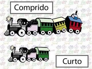 Opostos: Comprido / Curto