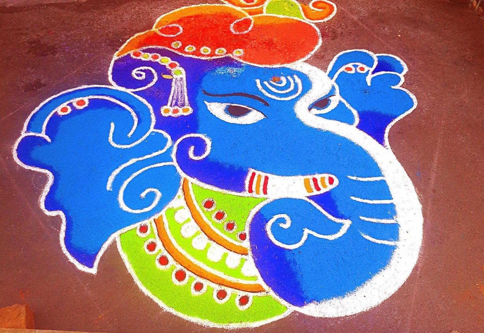 Best and easy rangoli designs for diwali festival world for Home made rangoli designs