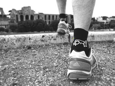 kori squirrel sport sock running heat test in rome