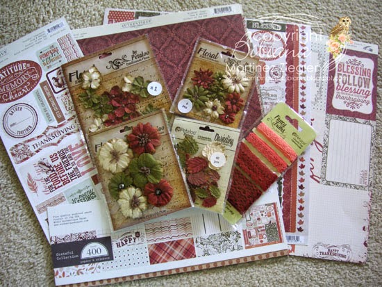 petaloo flowers and authentique papers
