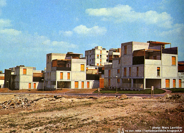 Boussy Saint Antoine - Val d'Yerres - Quartier de la Nérac  Architecte: Jacques Bardet  Construction: 1963 - 1968
