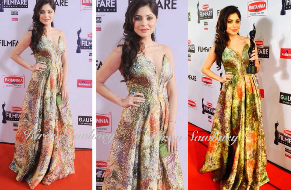 Kanika Kapoor At Filmfare Awards 2015