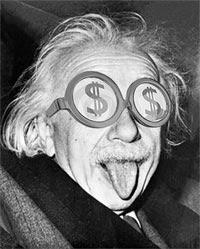 Le Saviez-vous ? Les célébrités qui gagnent le plus d'argent... après leur mort Einstein-money-argent-salaire-lunettes