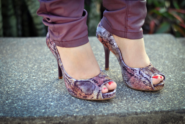 look peep toe animal print barbara kras