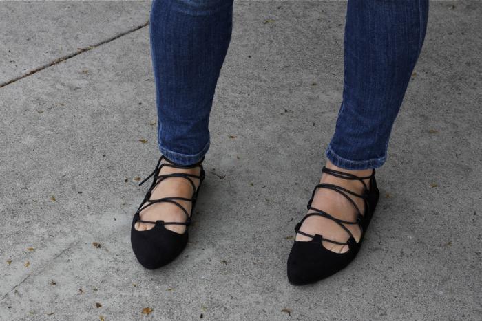 laced flats, boutique, black flats, OC Fashion Blogger, Huntington beach