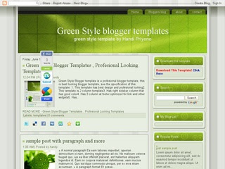 Green Style Blogger Template