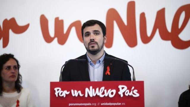 """Alberto Garzón: """"defenderemos con uñas y dientes los servicios públicos"""""""