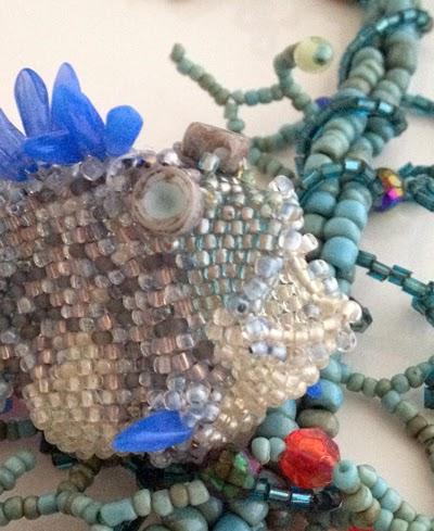 freeform peyote fish by Georgia McMillan