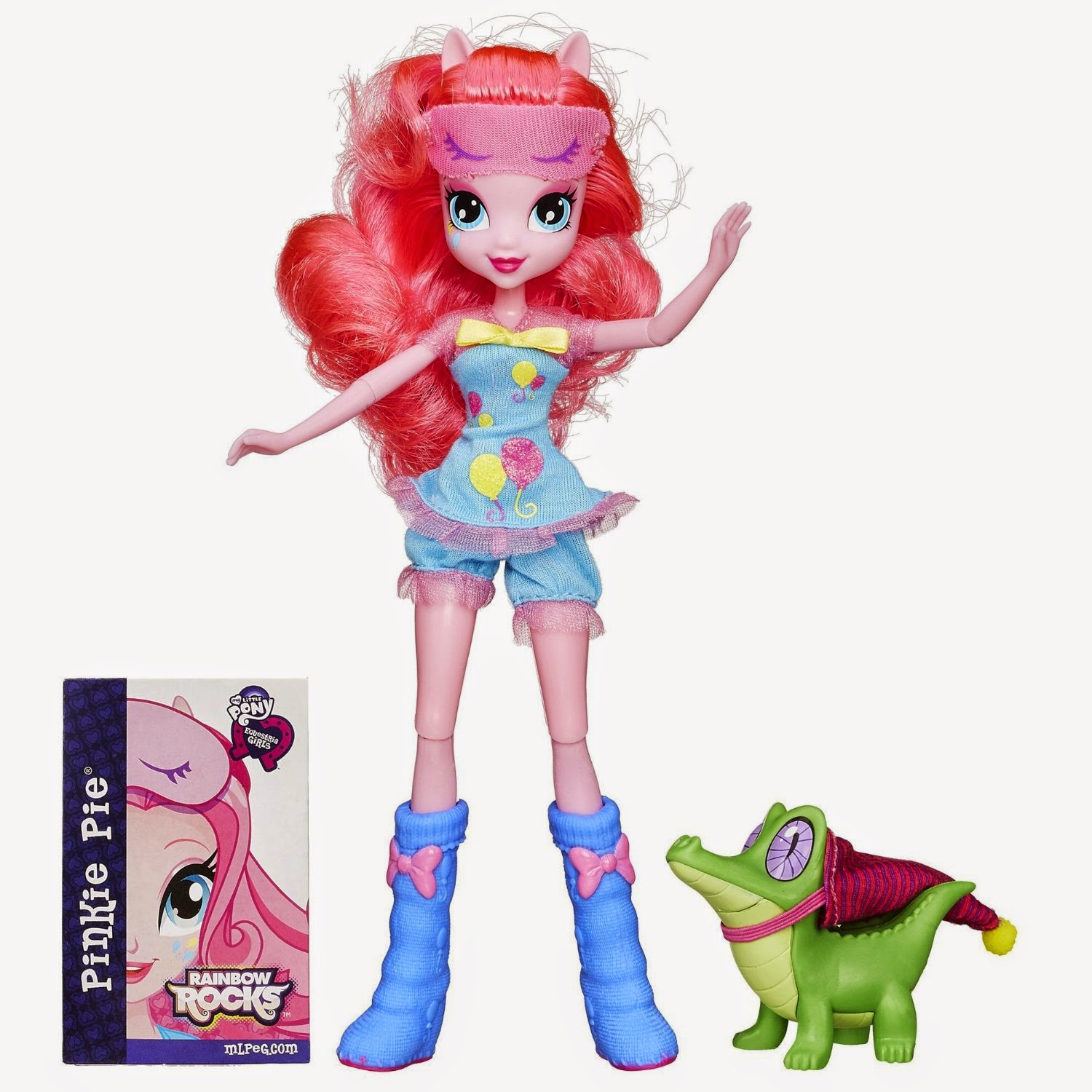 Gummy Snaps Figure and Pinkie Pie from Equestria Girls Sleepover Set