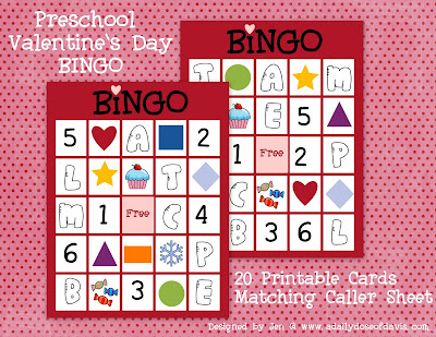 Valentine's Day Bingo Cards For Kids 5