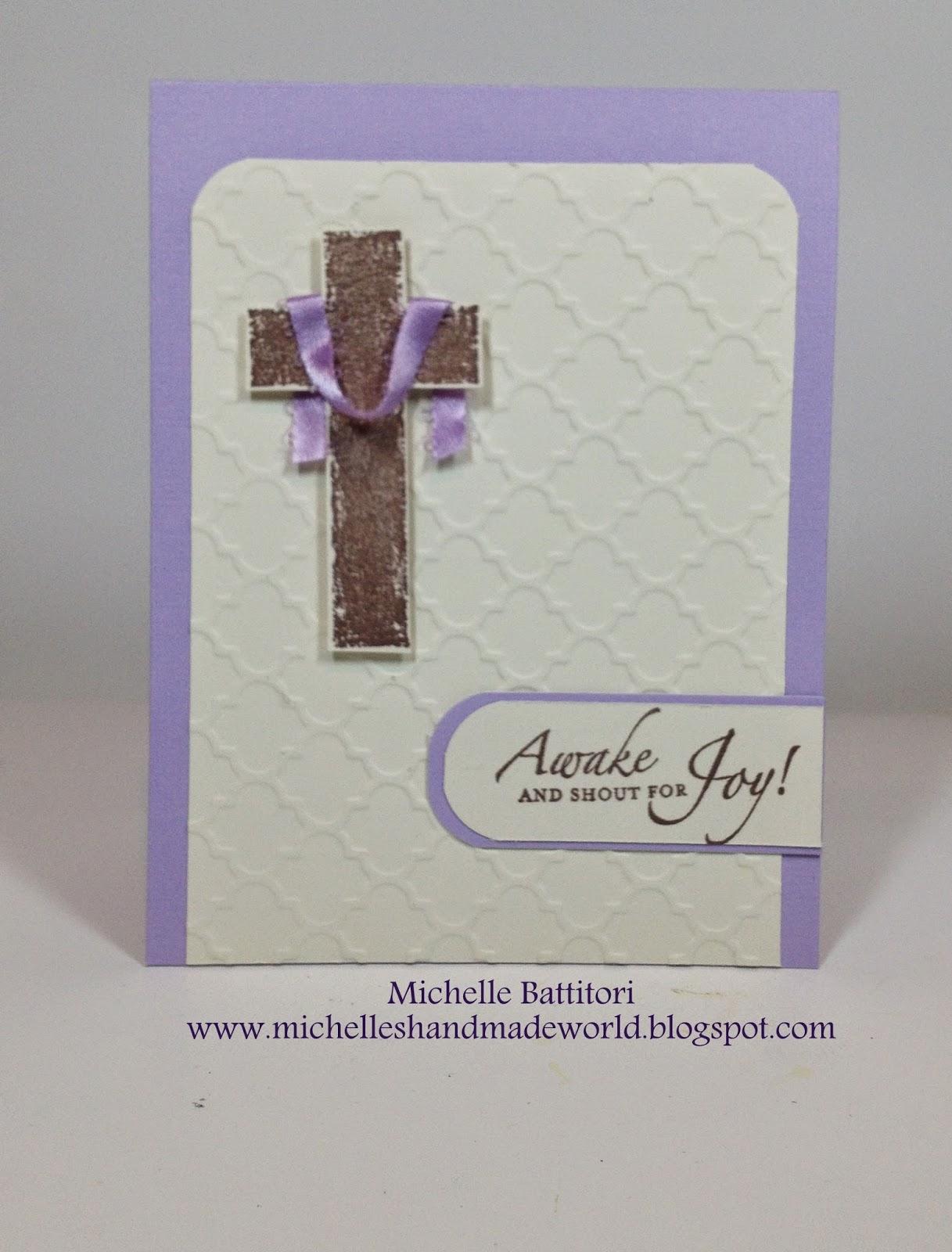 Michelles Handmade World Religious Easter Card