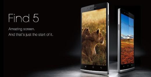 Harga dan Spesifikasi Oppo Find 5, Smartphone HD Pertama di Dunia