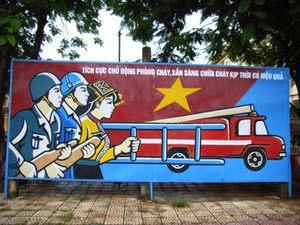 Propaganda for fire fighting