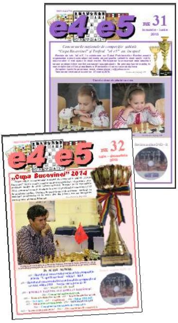 """Cumpăraţi revista de şah """"e4 e5"""""""
