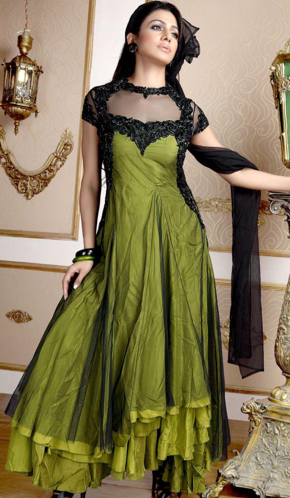 Pakistani fashion frocks designs 2012
