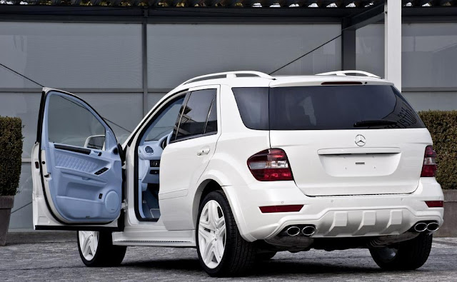 mercedes ml 164 tuning white