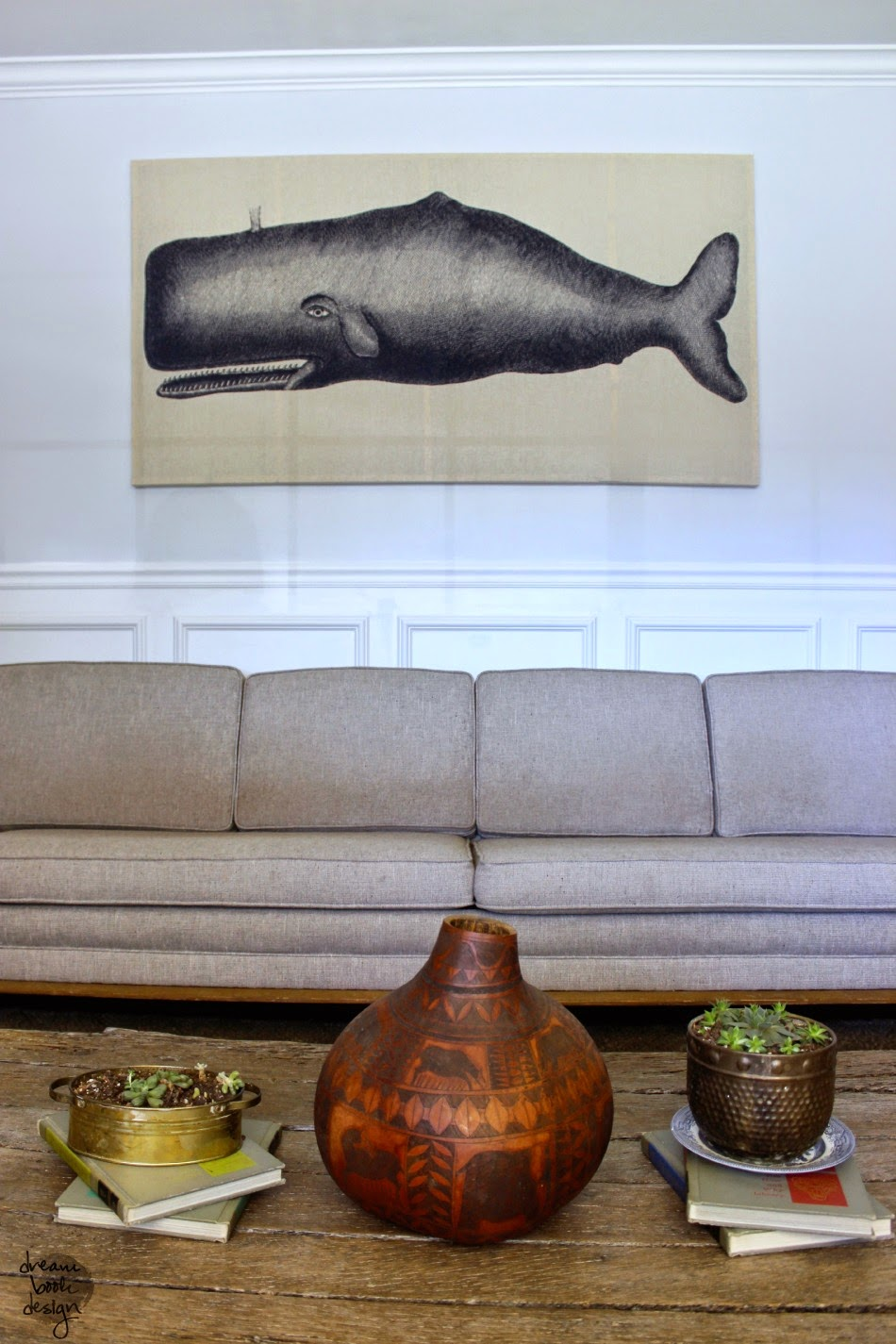 DIY WHALE MOBY DICK WALL ART CORTINA DE DUCHA