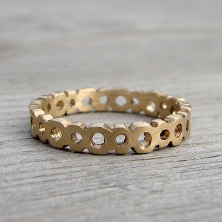 bubble wedding band