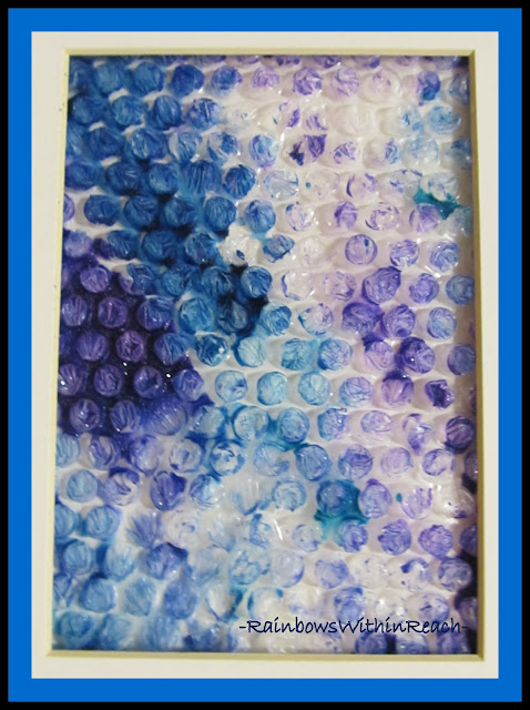photo of: Bubble Wrap Used as Painting Material -- Displayed as Product