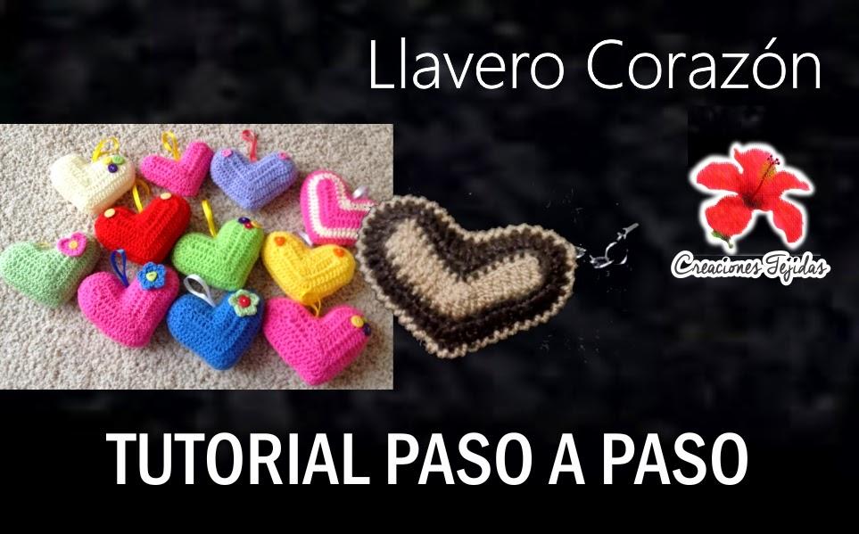 #T25 Llavero Corazón a Crochet - Tutorial Paso a Paso