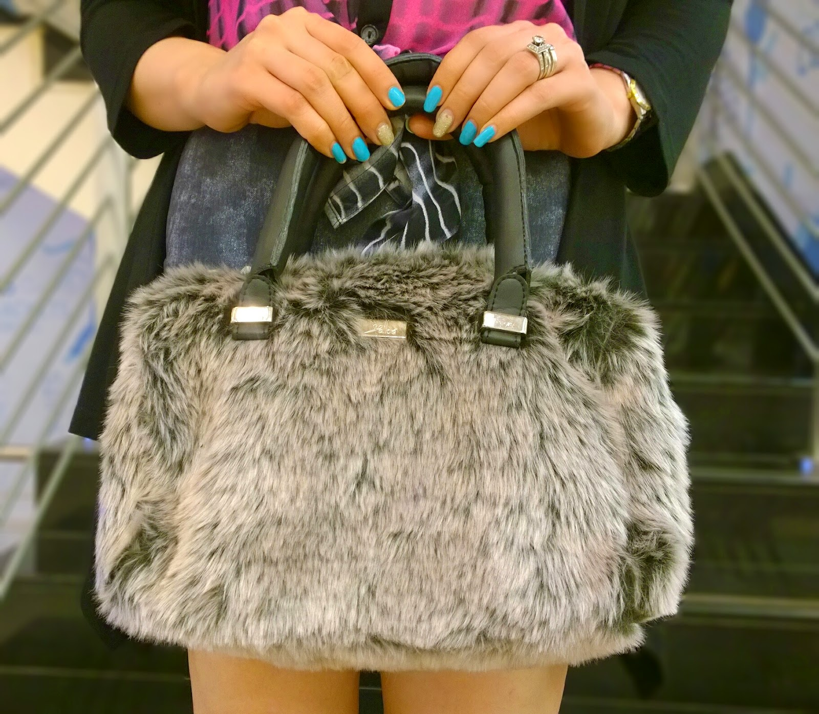 Reliance Trends Faux Fur Bag